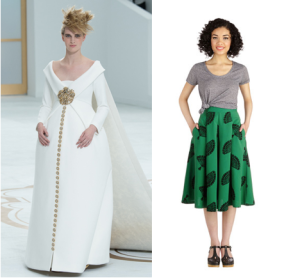 Left: Chanel, Photo Courtesy of Vogue, Right: Photo Courtesy of ModCloth