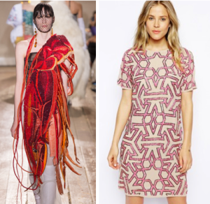 Left: Maison Martin Margiela, Photo Courtesy of Vogue, Right: Photo Courtesy of Asos