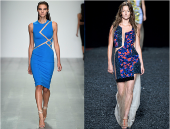 Left: David Koma; Right: Mary Katrantzou