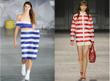 Left: Jacquemus; Right: Moncler Gamme Rouge