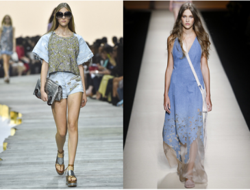 Left: Roberto Cavalli; Right: Alberta Ferretti