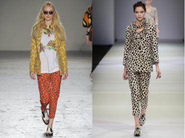 Left: Stella Jean; Right: Giorgio Armani